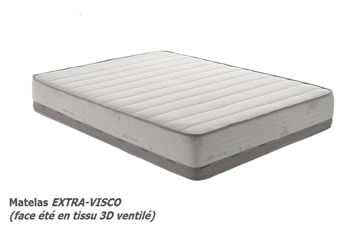 matelas 25 cm haut de gamme blue latex viscoelastique mousse m moire de forme ebay. Black Bedroom Furniture Sets. Home Design Ideas