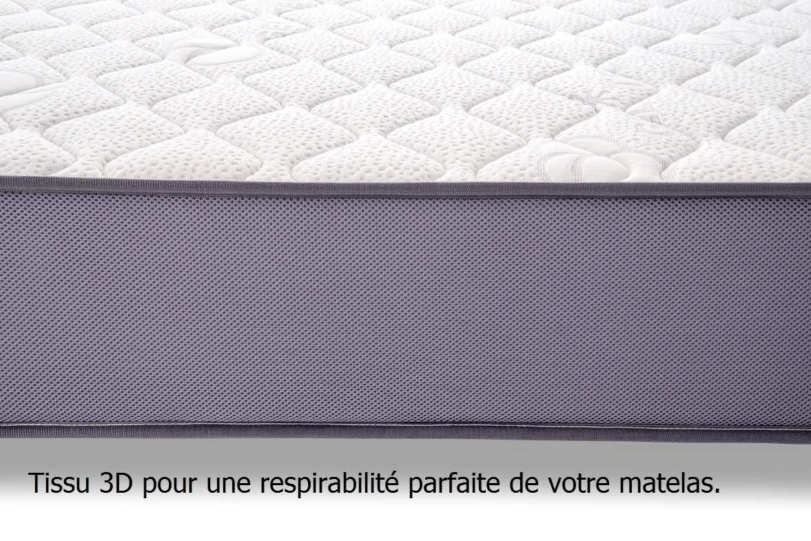 lit literie matelas en blue latex 7 zones gel fresh laine. Black Bedroom Furniture Sets. Home Design Ideas