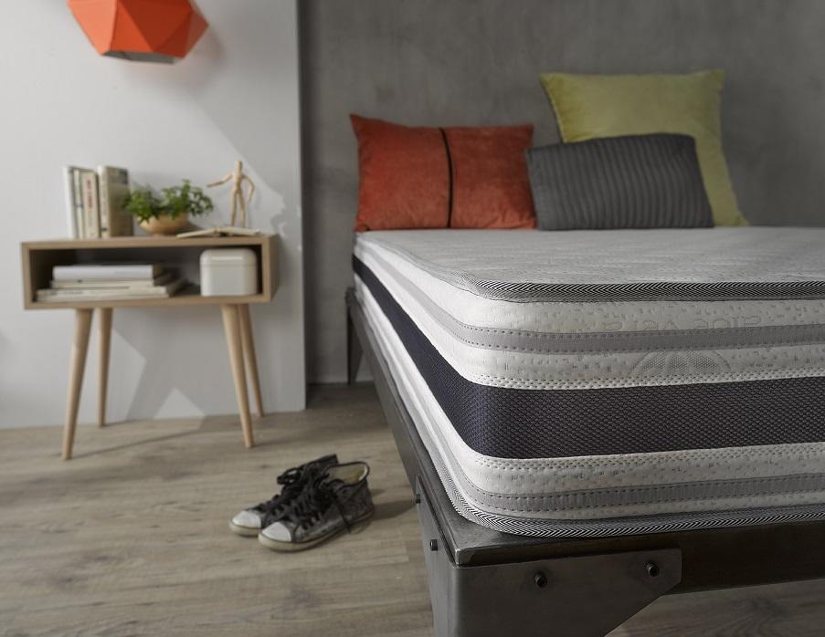 lit literie matelas epais naturalex en mousse blue latex bi densit 7 zones neuf ebay. Black Bedroom Furniture Sets. Home Design Ideas