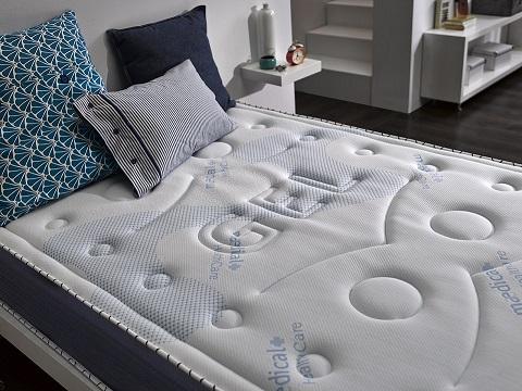 lit literie matelas 140 160 180 x190 200 cm blue latex. Black Bedroom Furniture Sets. Home Design Ideas