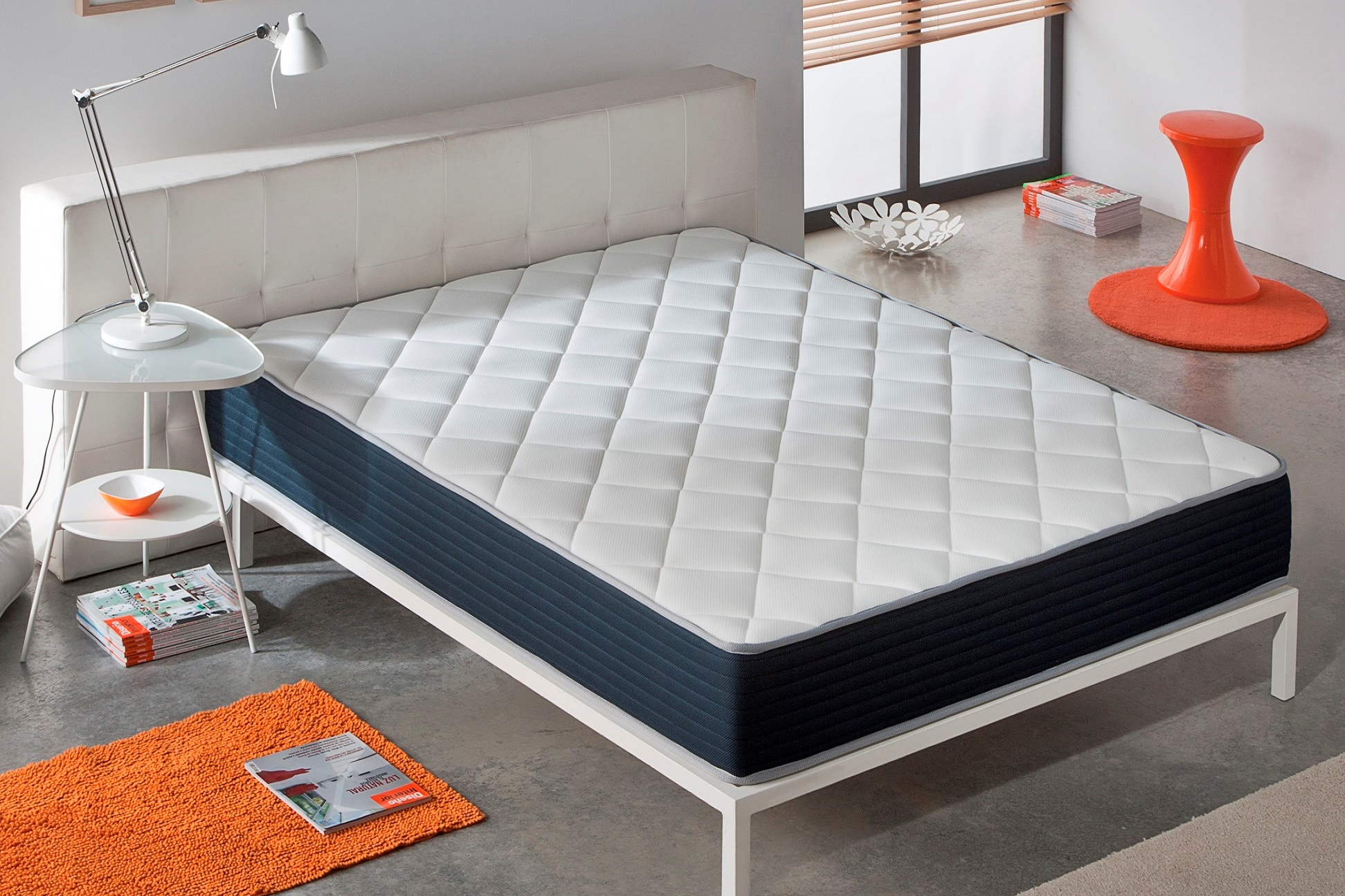 matelas pais 26 cm 8 cm mousse a memoire de forme blue latex 7 zones neuf ebay. Black Bedroom Furniture Sets. Home Design Ideas
