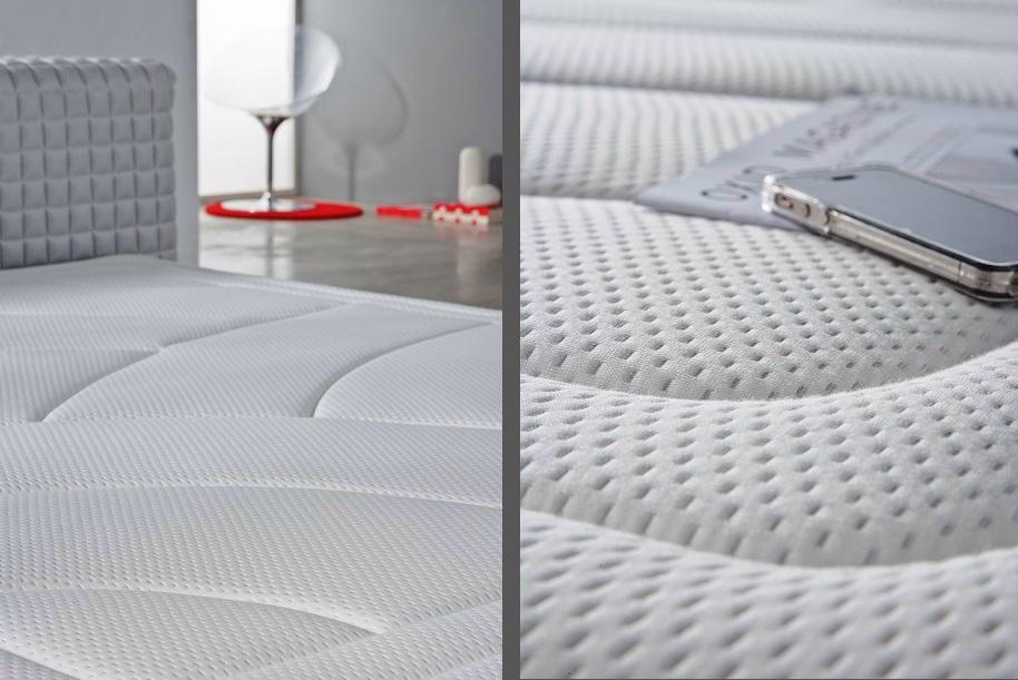 literie lit matelas epais mousse a memoire de forme bio latex 25 cm visco neuf. Black Bedroom Furniture Sets. Home Design Ideas